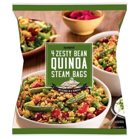 Iceland Zesty Bean Quinoa Steam Bags 500g   Vegetarian ...