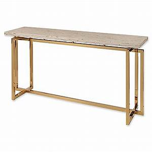 abbyson living danielle gold stainless steel console table With bed bath and beyond sofa table