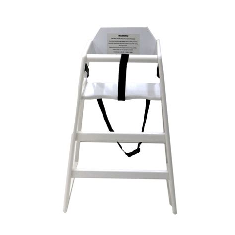 wooden high chair white 163 24 99 oypla