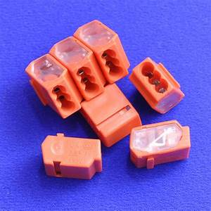 3 Way Push Wire Junction Connector With Orange Housing And