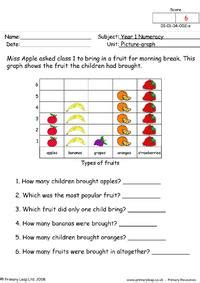 numeracy tally charts pets  class  worksheet