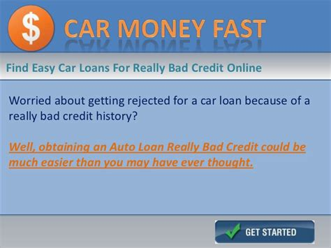 Car Loans For People With Really Bad Credit History