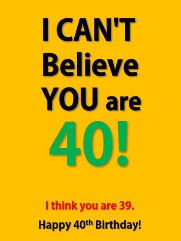 Here are some funny 40th birthday wishes, many of them poking fun at the person's age. Funny Happy 40th Birthday Party Card | Birthday & Greeting Cards by Davia