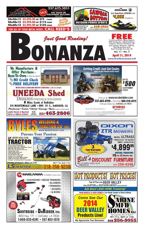 uneeda shed deridder louisiana bonanza 04 11 2014 by angela mcgee issuu