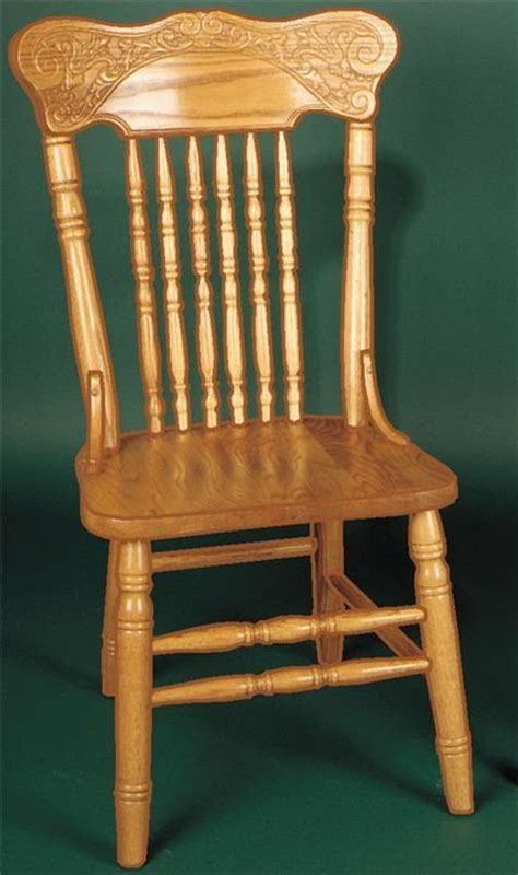 Oak dining room chair