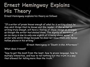 hemingways iceberg theory