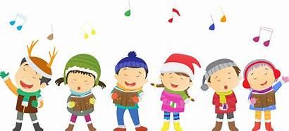 Singing Christmas Carol Carols Clipart Happy Singers