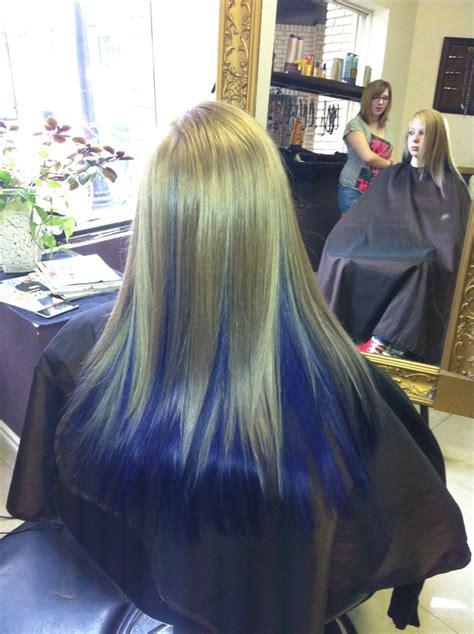 Blonde With Purple Underneath Purple Hair Pinterest