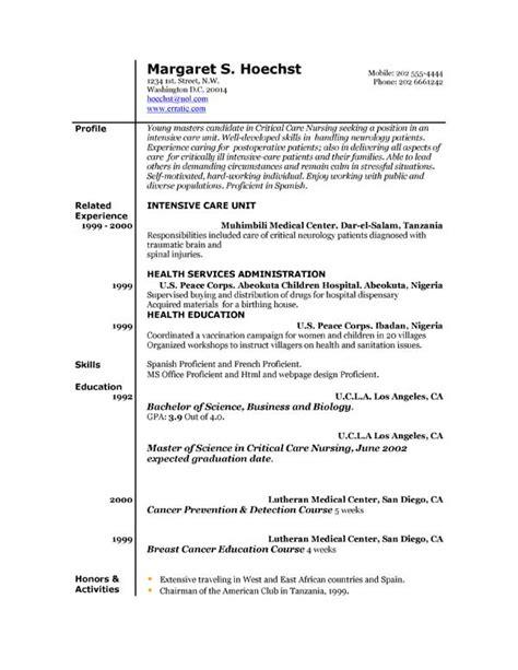 resume template exles