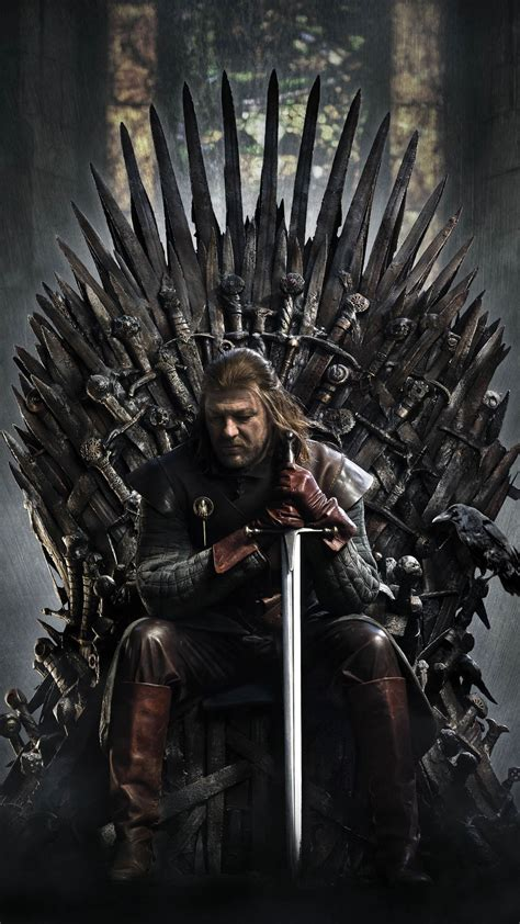 game  thrones ned stark iron throne android wallpaper