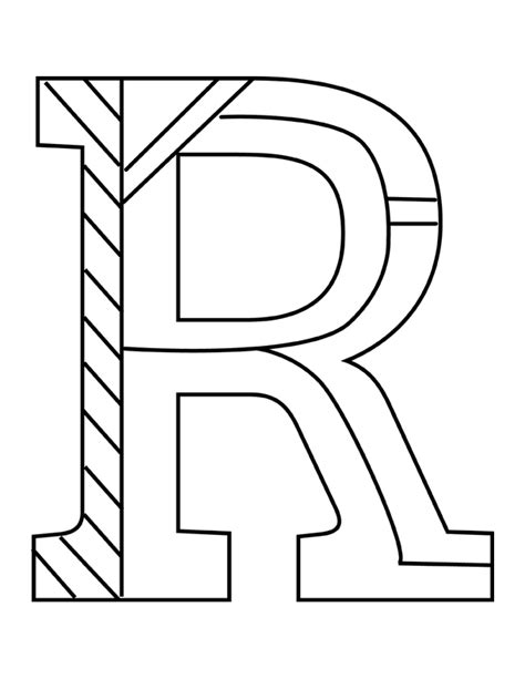 Coloring Letter R by Letter R Coloring Pages Getcoloringpages