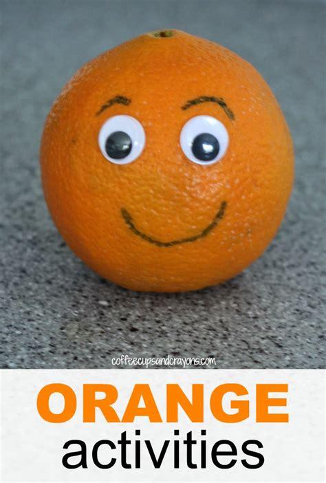 orange craft and snack for preschool 383 | Simple and Fun Orange Themed Activities for Preschool Kids
