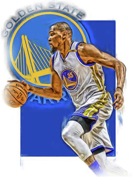 Golden State Warriors Wallpaper Hd Kevin Durant Golden State Warriors Oil Art Mixed Media By Joe Hamilton