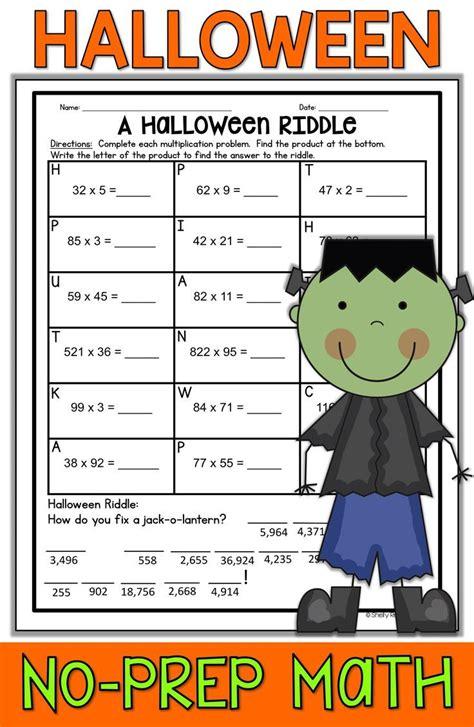 halloween math worksheets 4th grade halloween math