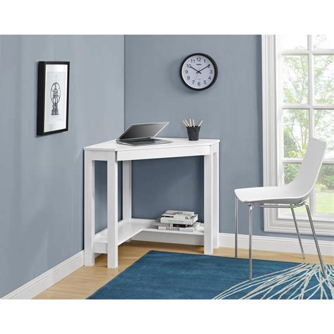 fresh white corner computer desk interior design and