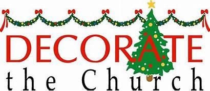 Decorating Church Christmas Clipart December Decorate Sanctuary