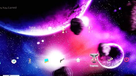 Themes For New Ps4 Themes 3d Dynamic Galaxy Theme P