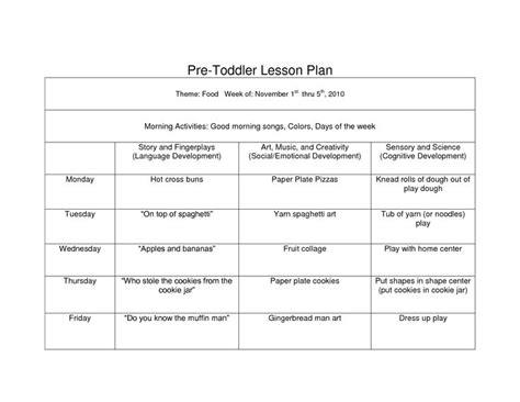 Creative Curriculum Blank Lesson Plan