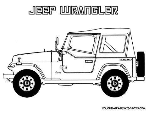 jeep coloring page jeep printable coloring pages
