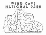 Cave Wind National Printable Park Parks Number Coloring Creative sketch template