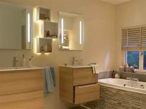 tout savoir sur l39eclairage dans la salle de bains leroy With carrelage adhesif salle de bain avec luminaire suspendu a led