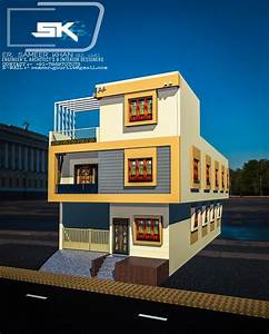 Introducing Modern House Exterior Elevation 24 Feet Front   Indian House