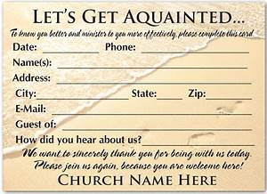 Welcome visitor postcard for church pc3005 harrison for Church welcome card template