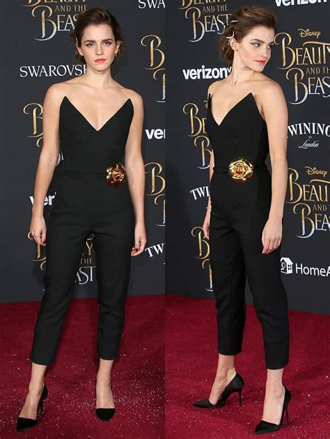 Emma Watson Wears Burberry Orsay Pumps For Press Tour