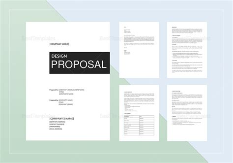 design proposal design template in word docs apple pages
