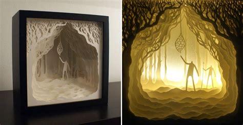 paper cut light box simply creative papercut light boxes by hari deepti