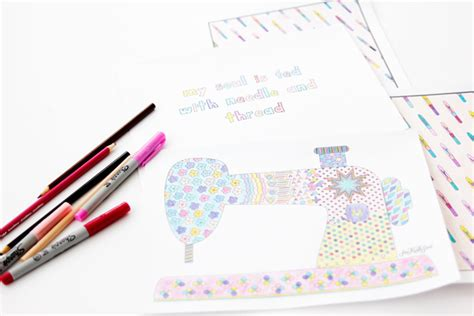 sewing coloring pages  kate sew
