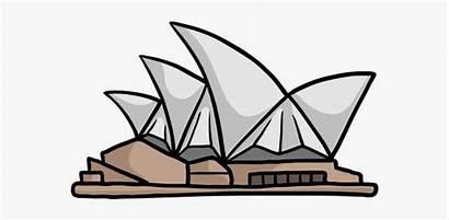 Opera Sydney Clipart Drawing Easy Clip Cartoon