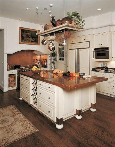 cuivre cuisine dosserets de cuisine en cuivre pour embellir intérieur