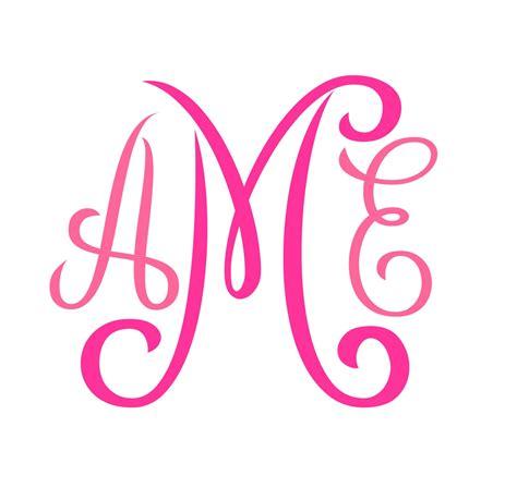 monogram svg font