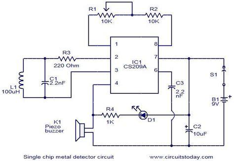 Single Chip Metal Detector Circuit Under Repository