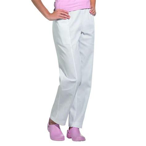 pantalon de cuisine femme pantalon blanc femme confort et style taille élastiquée