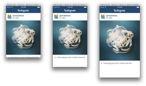instagram layout designing adaptive layouts for iphone 6