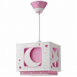 Lustre Bébé Fille : suspension enfant moon rose de la marque dalber sur luminaire discount ~ Teatrodelosmanantiales.com Idées de Décoration
