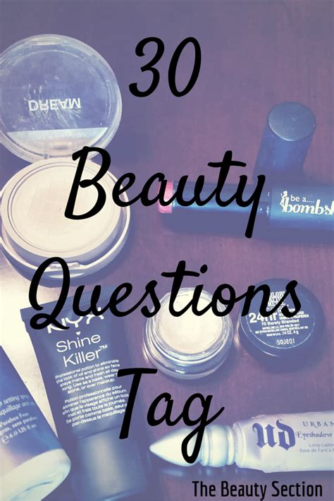 beauty questions tag  beauty section