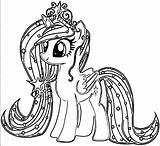 Pony Coloring Drawing Pages Mlp Games Drawings Lovers Printable Azcoloring Via Paintingvalley sketch template