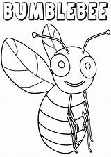 Bumblebee Coloring Pages Insect Print Animal sketch template