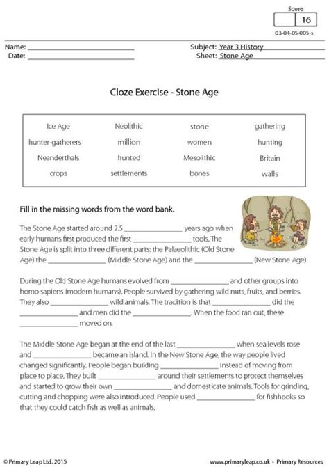 cloze exercise the age primaryleap co uk