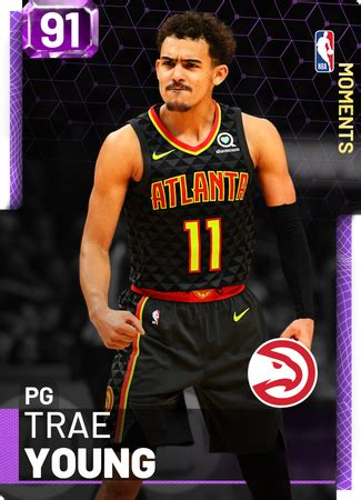 trae young  myteam amethyst card kmtcentral