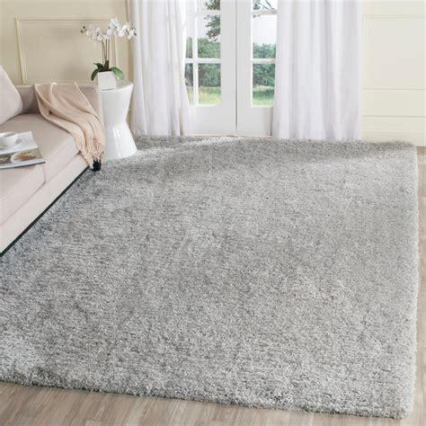 silver area rug silver shaggy rug rugs ideas