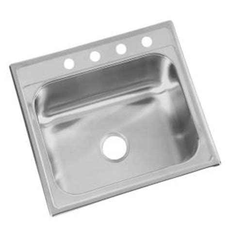glacier bay kitchen sink glacier bay top mount 25x22x6 in 4 single bowl 3755