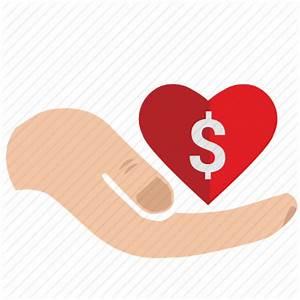 Charity, dollar, donate, heart, help, mercy, money, usd ...