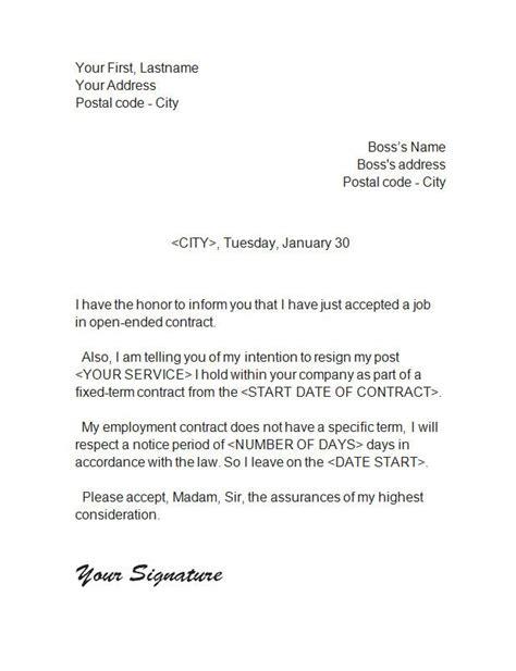 resignationletter cover letters pinterest