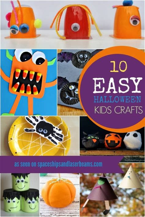 10 Easy Halloween Party Crafts For Kids  Spaceships And