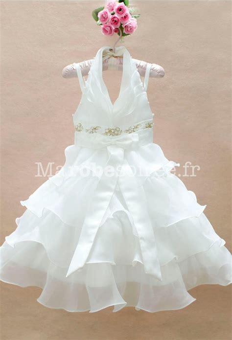 robe blanche enfant robe de cort 232 ge enfant elisa blanche brod 233 e en satin organza