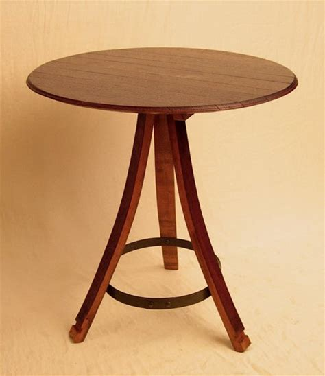 bistro  table recycled oak wine barrel staves
